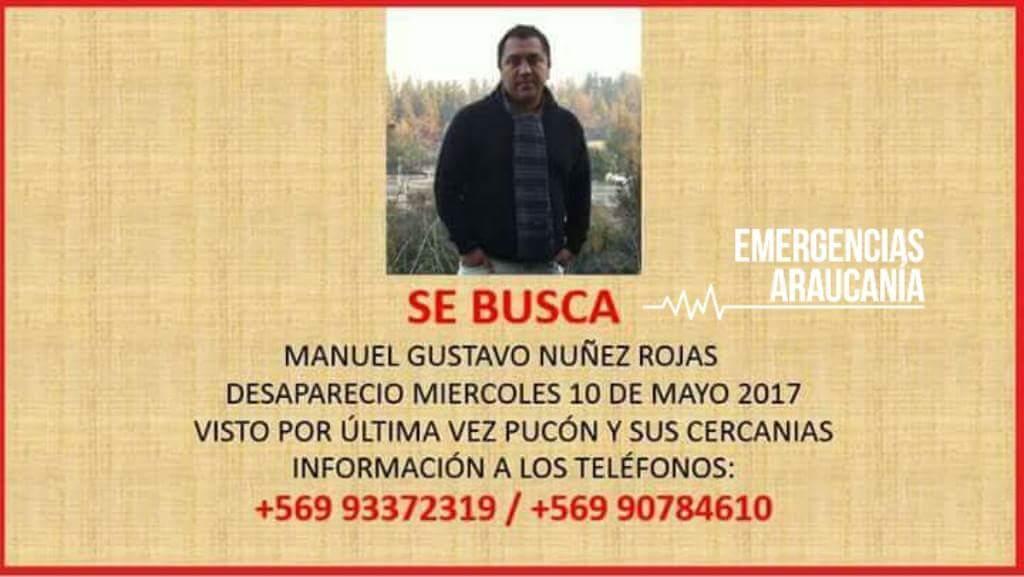 Hallan cuerpo de empresario desaparecido en Pucón