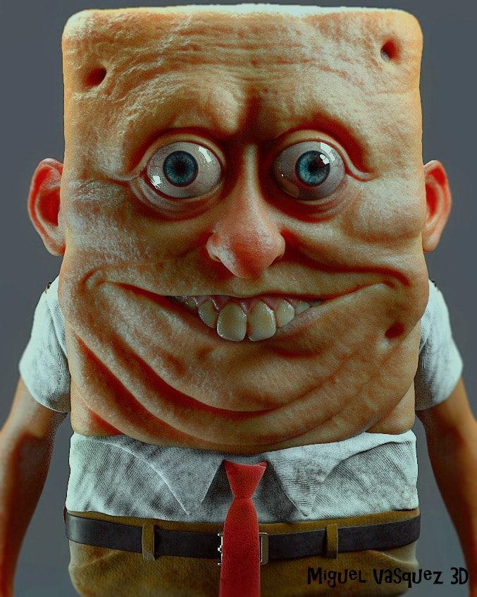 La versión de Bob Esponja que podría dar pesadillas