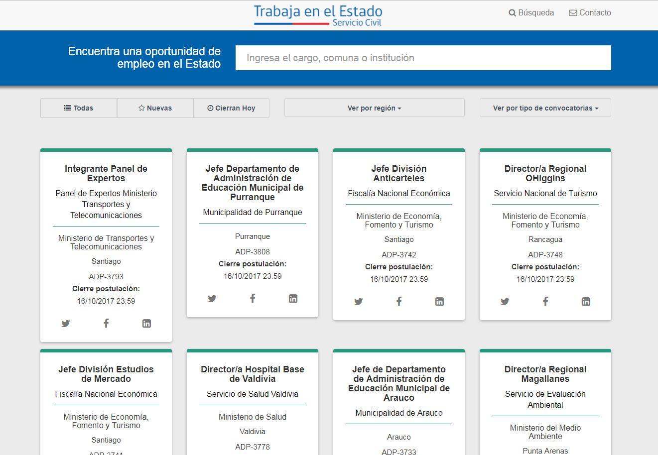 Lanzan sitio web que ofrece puestos de trabajo en el Gobierno