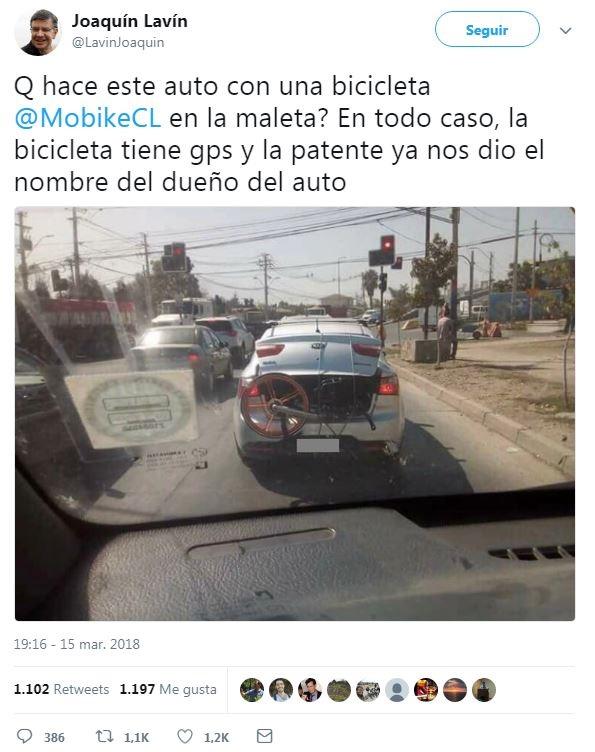 Las cinco cosas más insólitas que los santiaguinos han hecho con las bicicletas de Mobike
