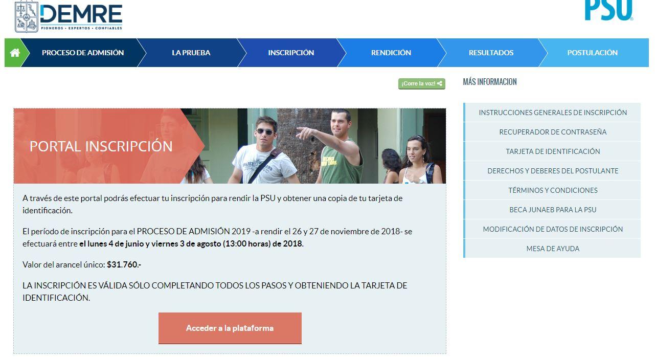 Inscripción PSU 2018: Postula a la beca para financiar el costo de la prueba