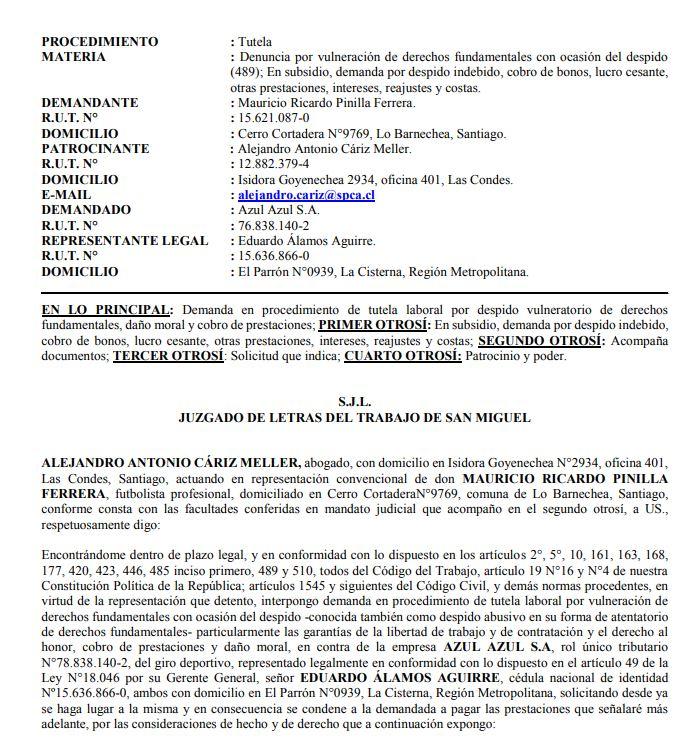 Mauricio Pinilla demandó a U. de Chile y pide millonaria indemnización