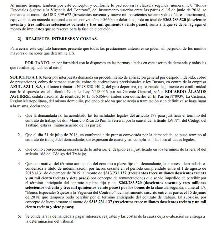 Pinilla radical: demanda a la U por más de $800 millones