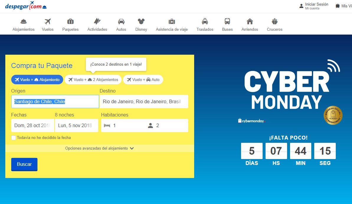 Cybermonday 2018: Inscríbete y recibe las mejores ofertas de vuelos y viajes