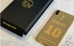 [FOTO] El extravagante regalo que recibió Messi: Un telefóno de oro con increíbles detalles