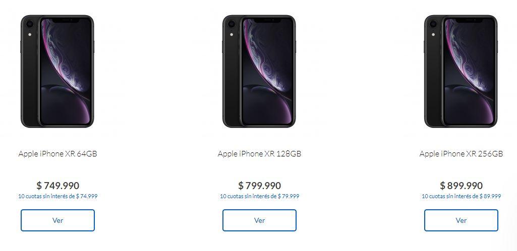Precios iPhone XR
